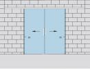 Раздвижная двустворчатая дверь из стекла