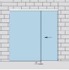 Раздвижная дверь с неподвижным полотном из стекла
