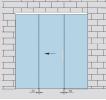 Раздвижная стеклянная дверь с  двумя фрамугами
