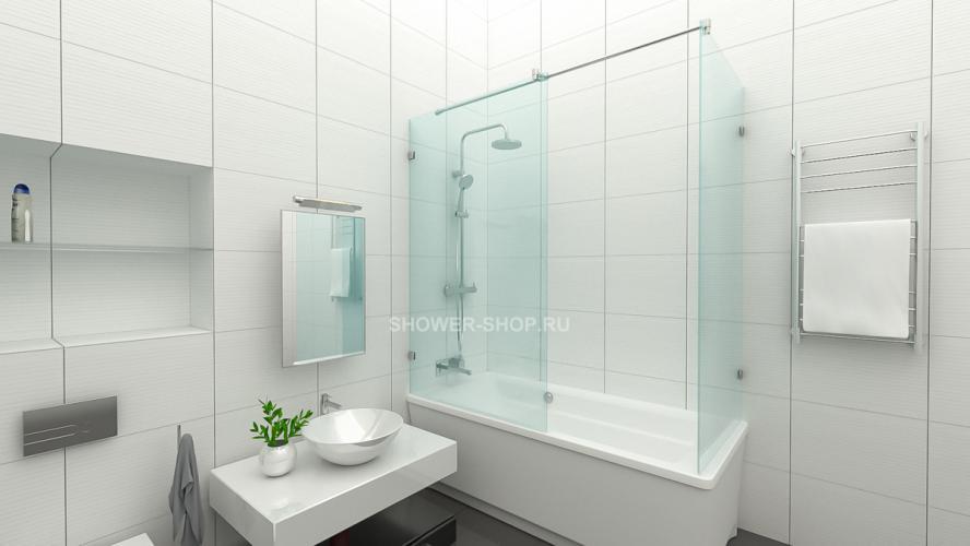Фурнитура для угловой шторки на ванну №706