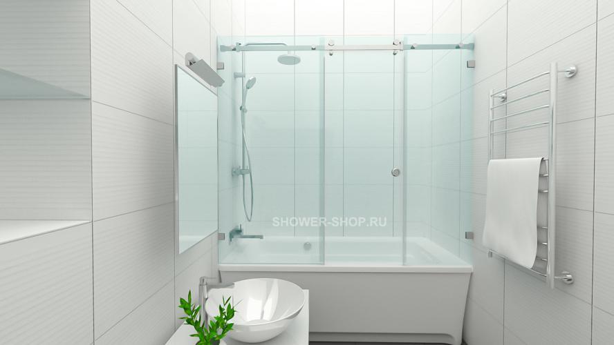 Фурнитура для шторки на ванну раздвижная с дверью №710